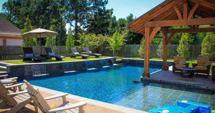 desain rumah mewah 2 lantai dengan kolam renang 3d