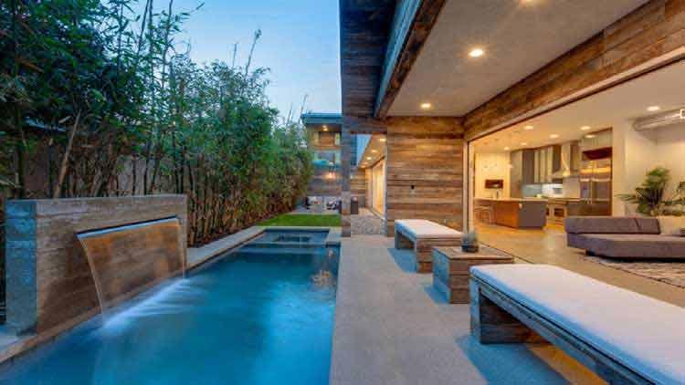 gambar denah rumah sederhana dengan kolam renang