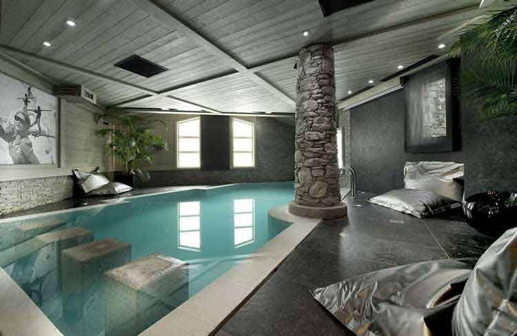 desain rumah lengkap dengan kolam renang